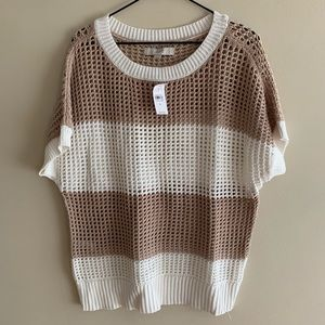 100% Cotton Knit Pullover Sweater Top